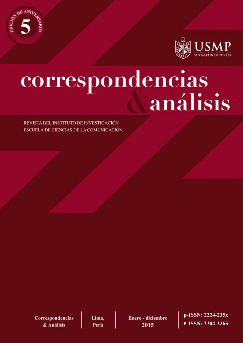 Revista Correspondencias & análisis N°5 2015 (ene. - dic.)
